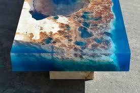 16 topography coffee table broken liquid glass and concrete