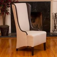 High Back Chair Living Room High Back Tufted Accent Chair Wayfair