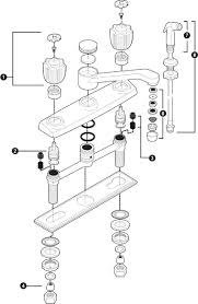 moen single handle kitchen faucet repair diagram sinks and