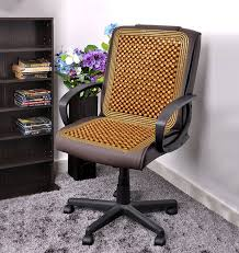 Office Chair Covers Zone Tech Natural Wooden Beaded Massage Seat Cushion Car Home
