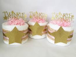 set of 4 twinkle twinkle little star mini diaper cakes twinkle