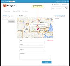 default contact us page with map magento extension by