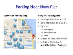 navy pier map navy pier parking in chicago il map rates options from spothero