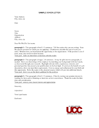 ideas collection cover letter without contact name or address in