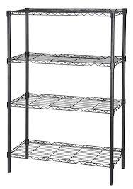 White Wire Shelving Unit by Amazon Com Amazonbasics 4 Shelf Shelving Unit Chrome Home