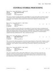 Central Sterile Processing Technician Resume Surgical Technician Resume 0809 Automotive Resume Template