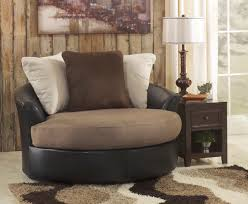 Oversized Swivel Accent Chair Masoli Mocha Oversized 58 Swivel Chair The Masoli Living
