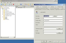 creating users with templates on sever 2008 r2 active directory