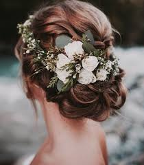 wedding hair flowers flower crown rustic wedding hair wedding hairstyles