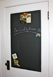 our crafty home magnetic chalkboard door