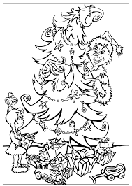 free printable grinch coloring pages kids