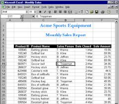 Monthly Sales Report Template Excel Updating Excel From The Web