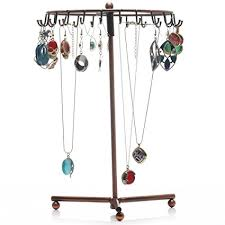 earrings necklace holder images Readaeer rotating jewelry holder stand display jpg