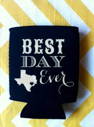 wedding koozie quotes best day state wedding can coolers wedding favor with floral