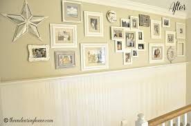 gallery wall hallway makeover