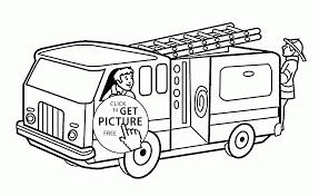 fireman fire truck coloring kids transportation