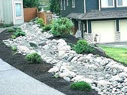 Rock Garden Beds River Rock Garden Bed Image Of Landscaping With River Rock Plan