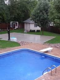 Half Court Basketball Dimensions For A Backyard by Pictures Of Backyard Courts With A Pool And Basketball Court