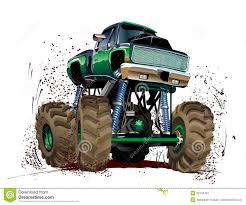 monster truck mudding videos cartoon monster truck stock image image 32742491