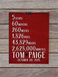 5 year anniversary gift for custom anniversary gifts 5 year 10 year 15 year 20 year
