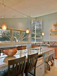 kitchen island with hanging pot rack window hanging pot rack kitchen traditional with brown gray and
