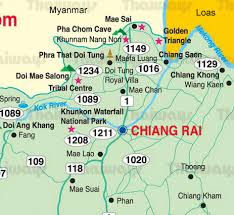 northern map map of chiang mai city by thaiways