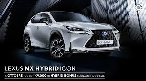lexus nx hybrid listino ad ottobre lascia il tuo diesel e scegli lexus nx con hybrid bonus