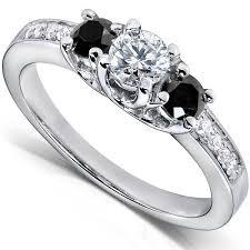 white and black diamond engagement rings black diamond engagement rings lovetoknow