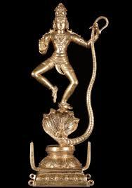 bronze krishna statue on kaliya 21