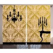 Red And Gold Damask Curtains Damask Curtains