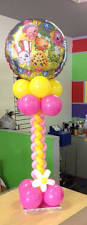 bright flower balloon centerpiecesthat i did for a luncheon