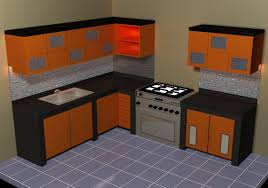 design kitchen set kitchen set 3d model