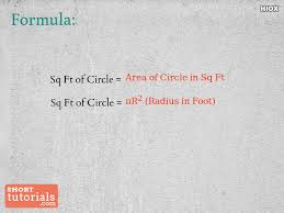 how to calculate square footage of circle square feet of circle