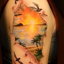 55 sun shoulder tattoos
