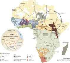 Africa Map Political by Political And Ethnolinguistic Map Of Africa Wonderful Maps