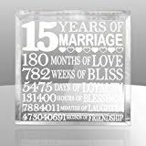 15 year anniversary gift for him 15th wedding anniversary gift for 15th