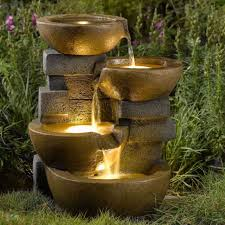 outdoor water features with lights outdoor water fountain led lights indoor garden decor patio yard