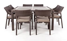 square outdoor dining table amazing 8 person nico square patio table for elegant and relaxing