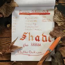 best shades of orange diamine autumn oak ink review u2014 a better desk