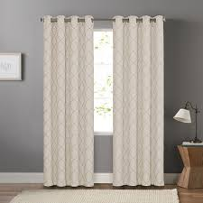 goods for life embroidered trellis dynasty window curtain