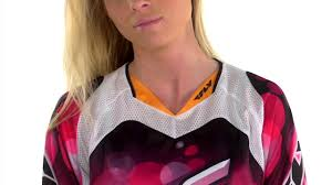 fly womens motocross gear 2014 fly racing kinetic womens jersey review youtube