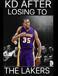Kd Memes - 20 best memes of the warriors crushed by the lakers sportige