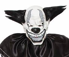 Scary Clown Halloween Costumes Adults Scary Clown Mask Wide Smile Rainbow Hair Icp Evil Creepy