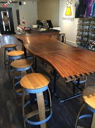 custom made dining room tables custom made barrel stave bar top kitchen counter dining room