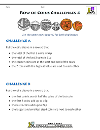 Coin Worksheets Maths Money Worksheets Solving Maths Challenges