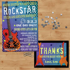 rockstar birthday invitation rock n roll birthday invitation
