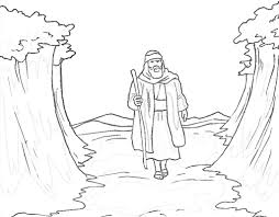 coloring page about moses while you tell the story of moses unique