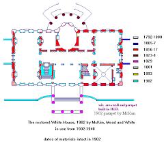 Floor Plan Of White House Tr Renovation White House Museum