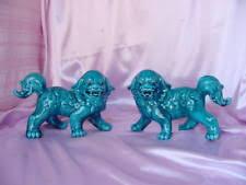 blue foo dogs vintage foo dog blue ebay