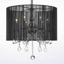 Chandelier With Black Shades Drum Shade Chandeliers U0026 Pendant Lighting Chandelier Top